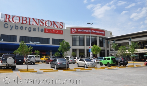 Parking space at the Robinsons Cybergate Davao